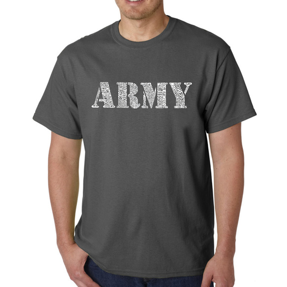 Men's Word Art T-shirt - LYRICS TO THE ARMY SONG Boutique